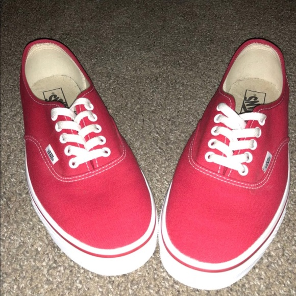 vans shoes man red